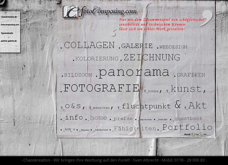 Webdesign Fotocomposing